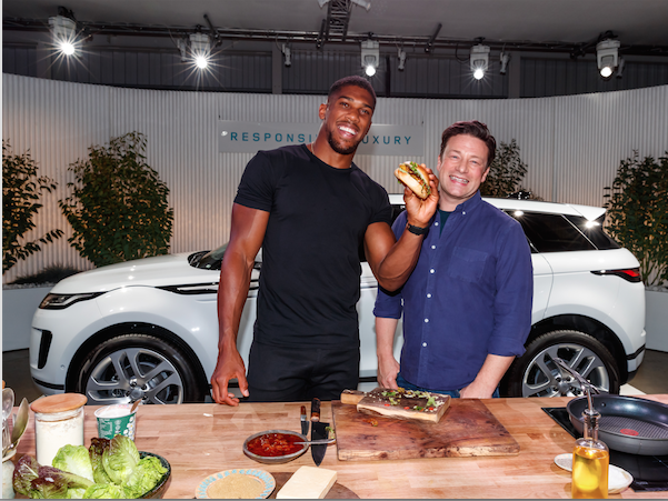 Anthony Joshua Jamie Oliver Team Up With Land Rover To